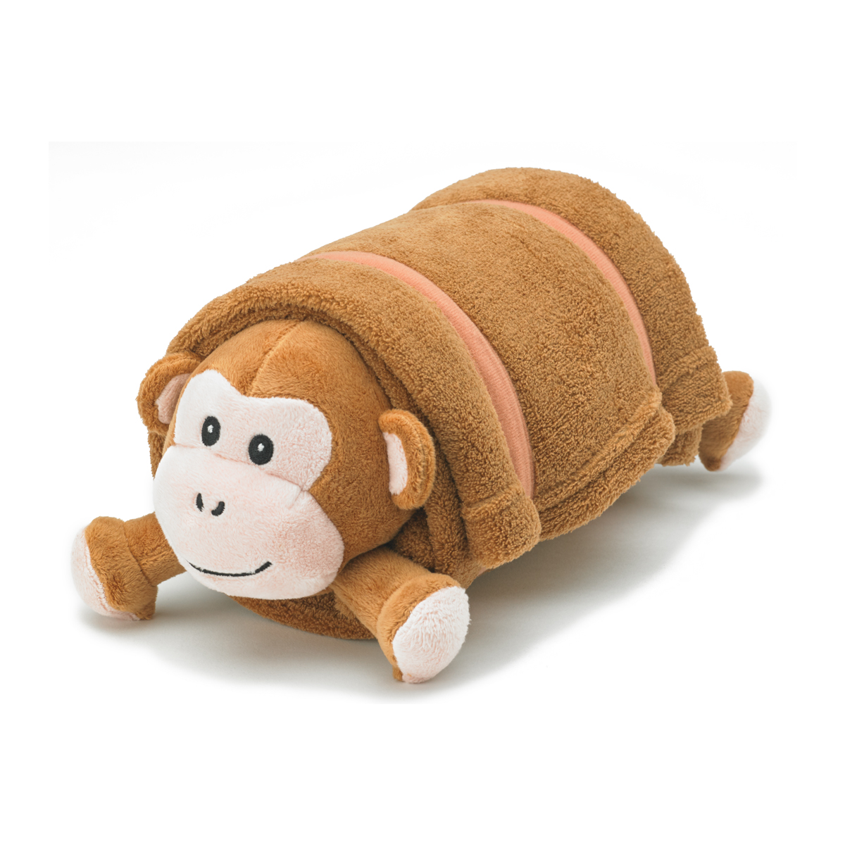 Brown Monkey Plush Pet Pillow With Blanket Nap Mat Cover Pillow