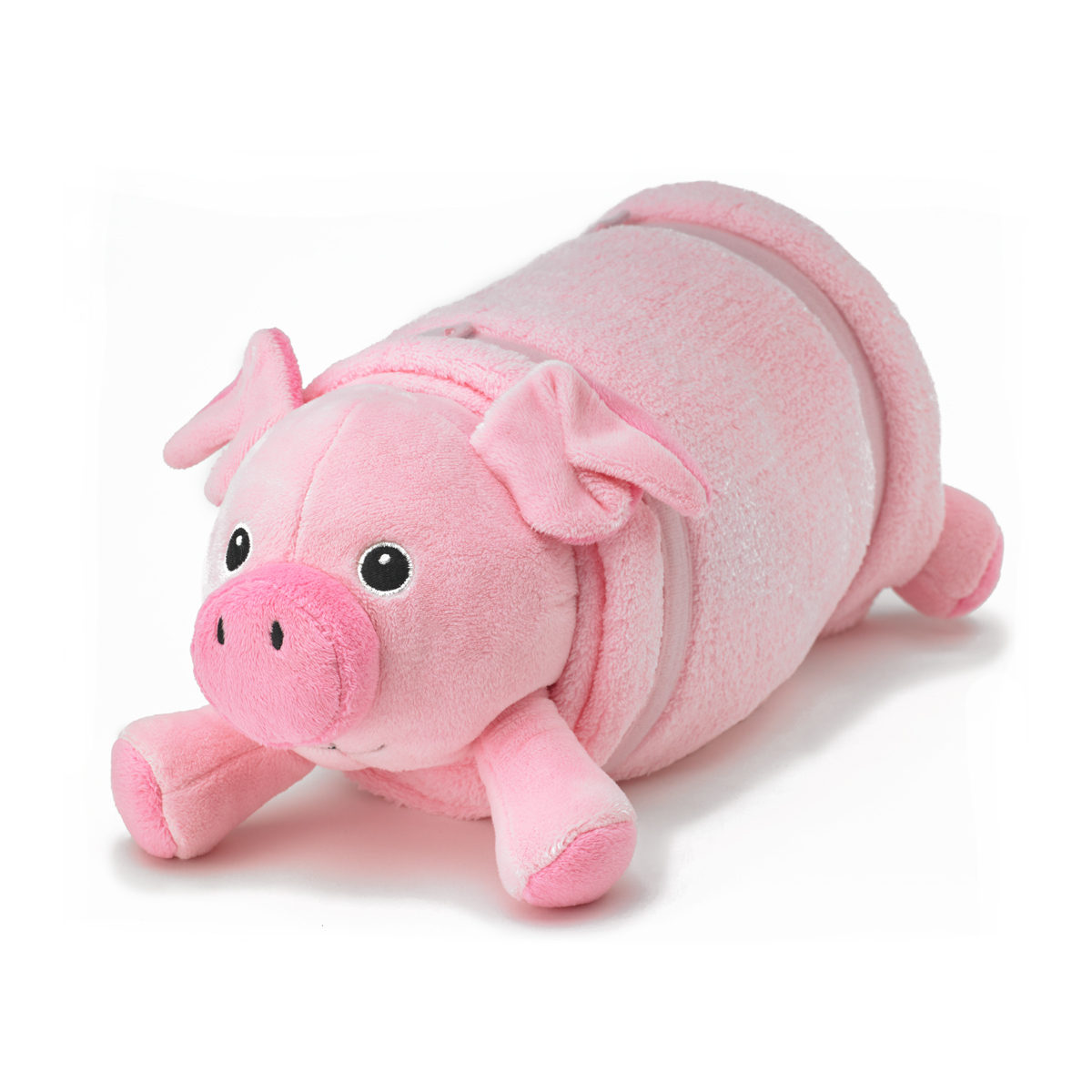 Pink Pig Plush Pet Pillow with Blanket ? Nap Mat Cover Pillow + Blanket