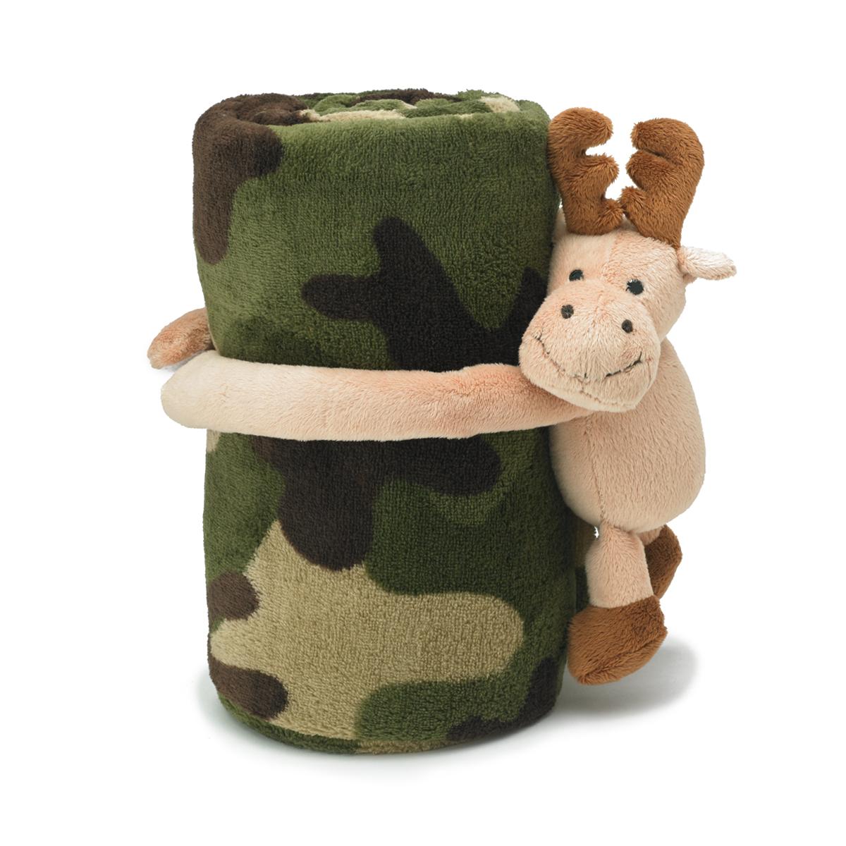 Hugz Pets Moose Green Camo Nap Mat Cover Pillow Blanket