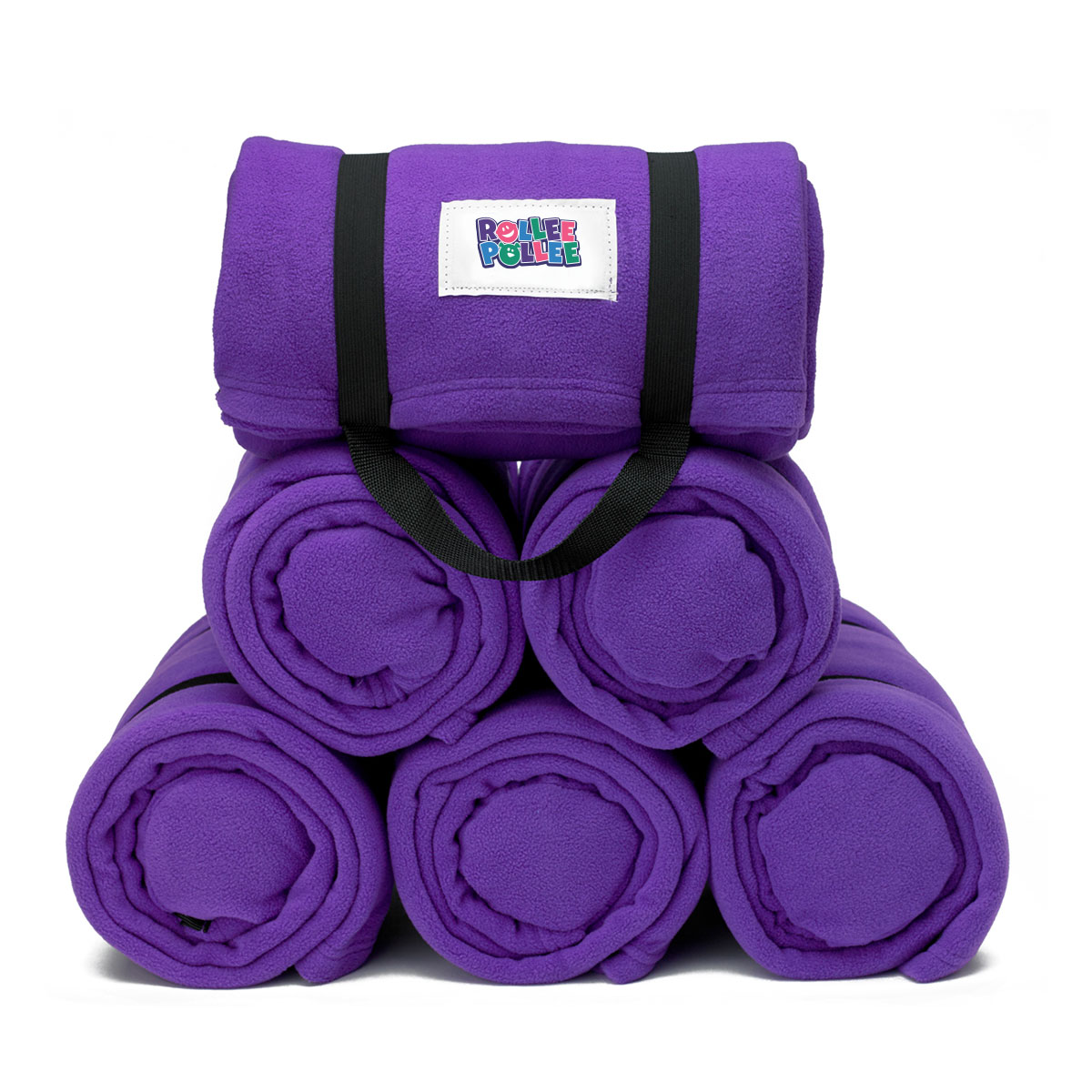 Rollee Pollee Nap Sac 6 Pack Purple Nap Mat Cover Pillow